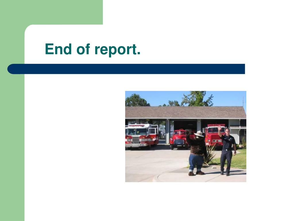 End of report.