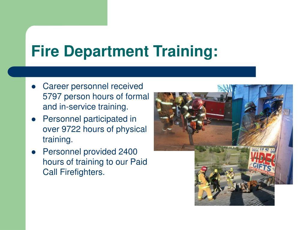 Fire Department Training: