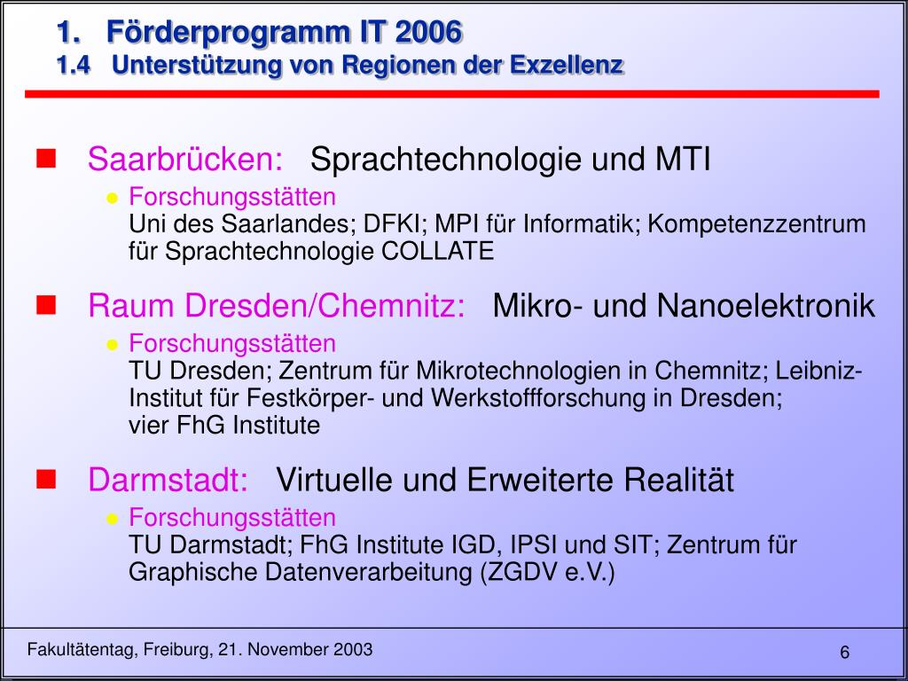 1.   Förderprogramm IT 2006