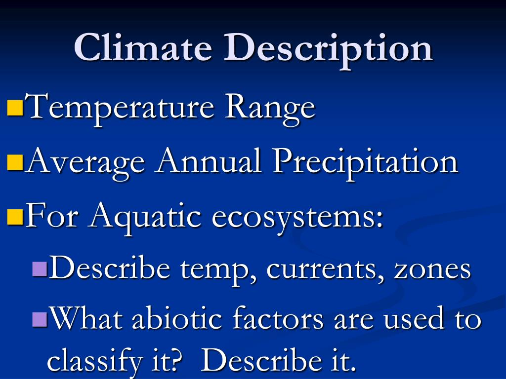Climate Description