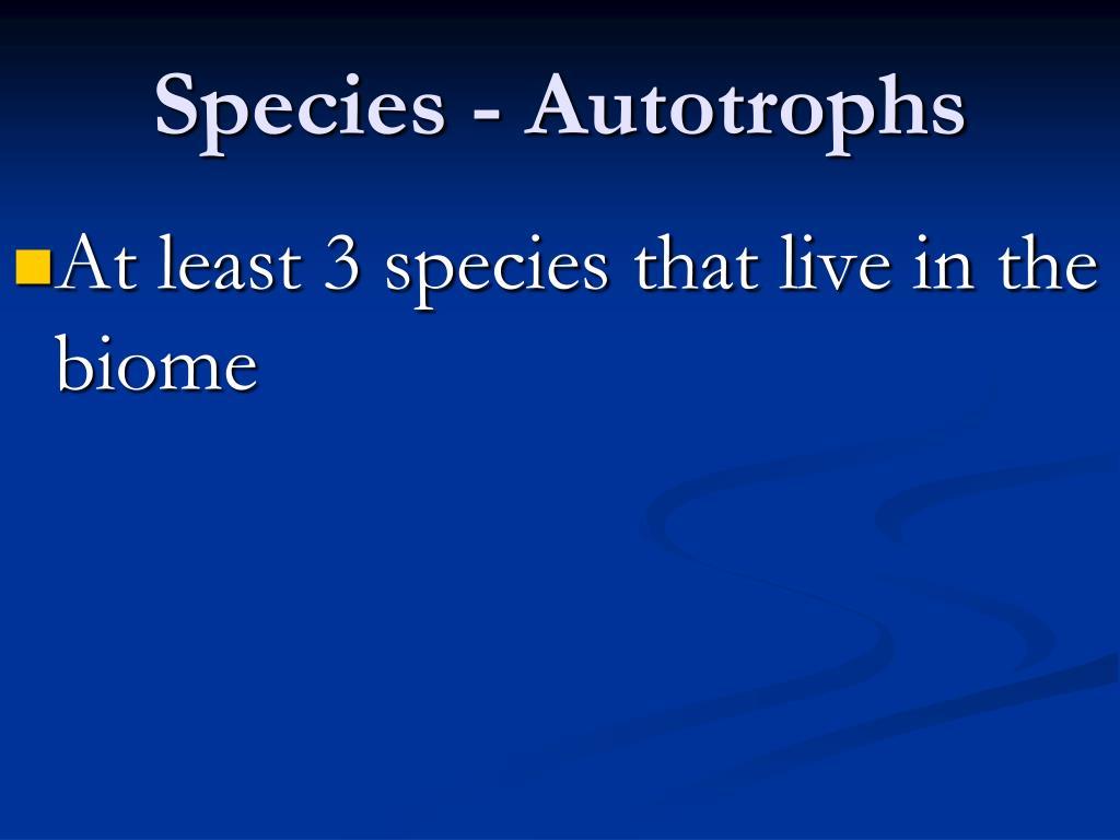 Species -