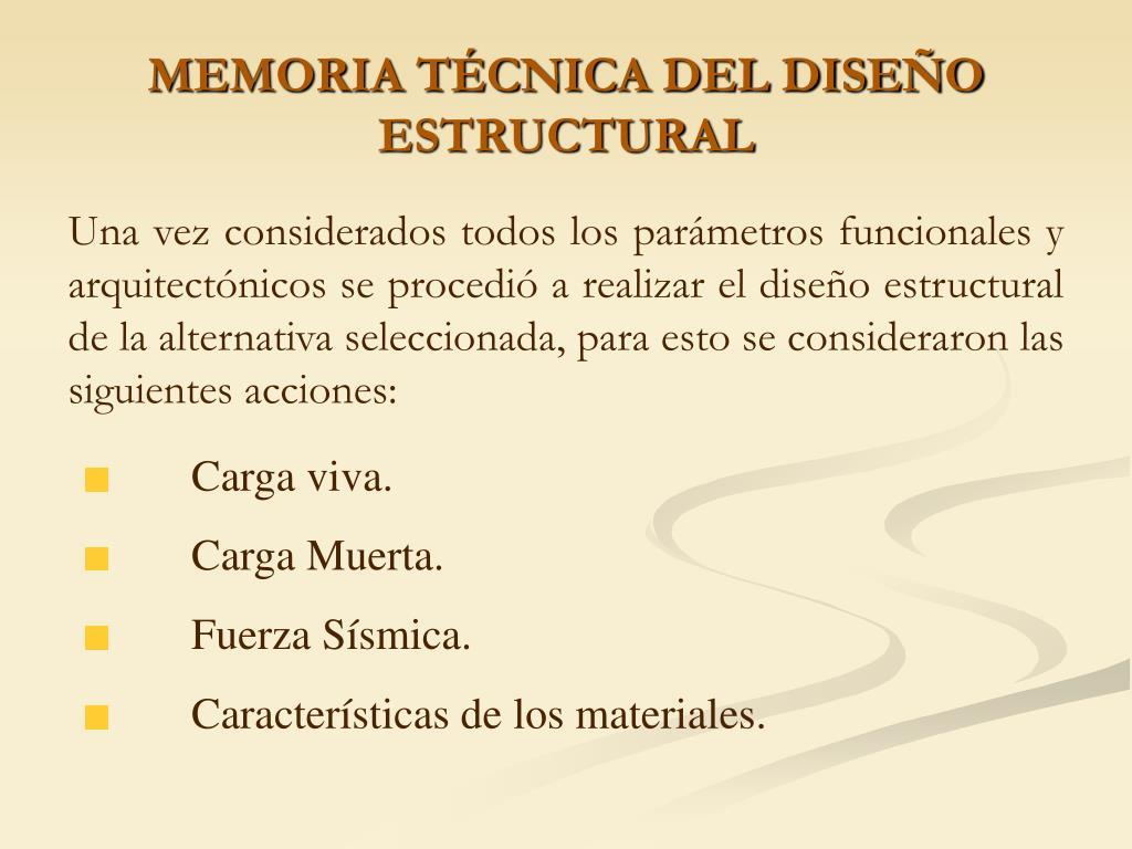 MEMORIA TÉCNICA DEL DISEÑO ESTRUCTURAL
