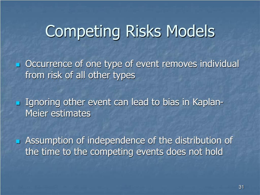 Competing Risks Models