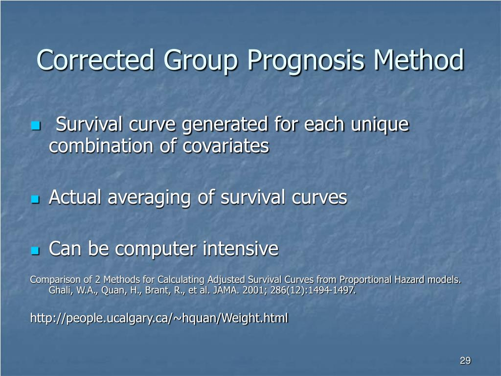 Corrected Group Prognosis Method