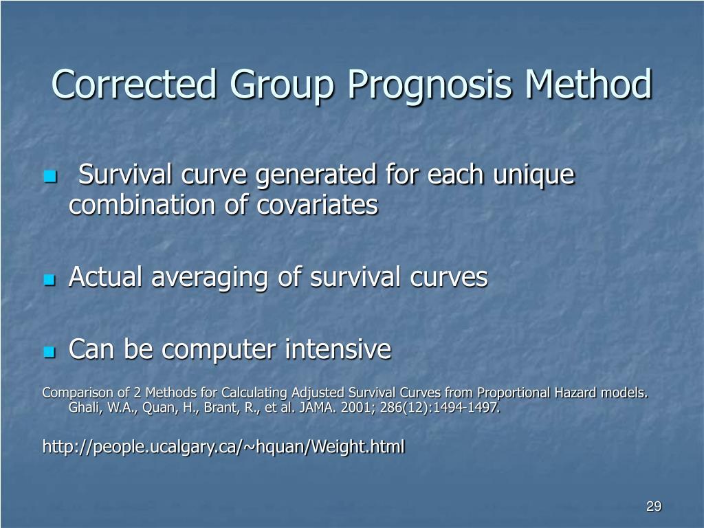 Corrected Group Prognosis Method