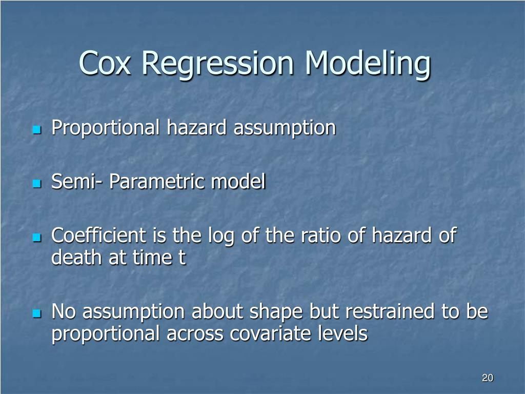 Cox Regression Modeling