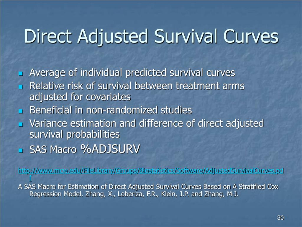 Direct Adjusted Survival Curves