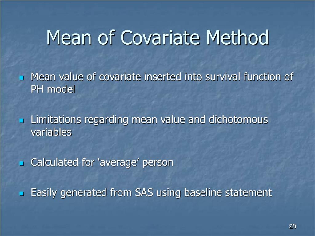 Mean of Covariate Method