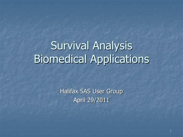 Survival analysis biomedical applications l.jpg