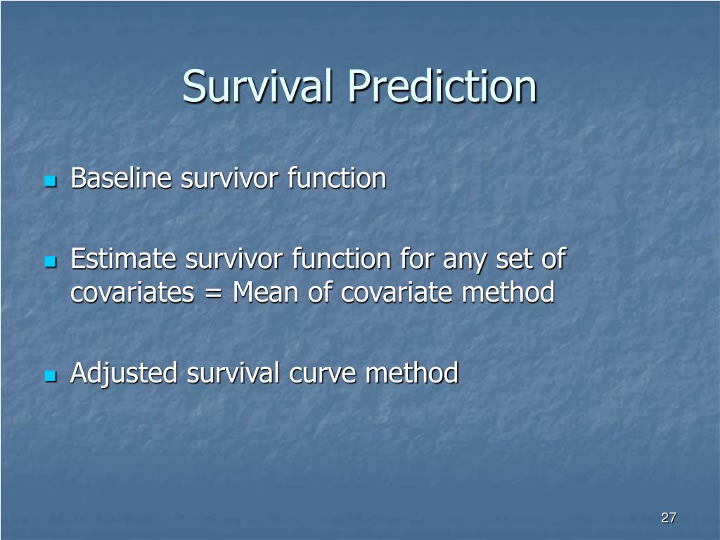 Survival Prediction