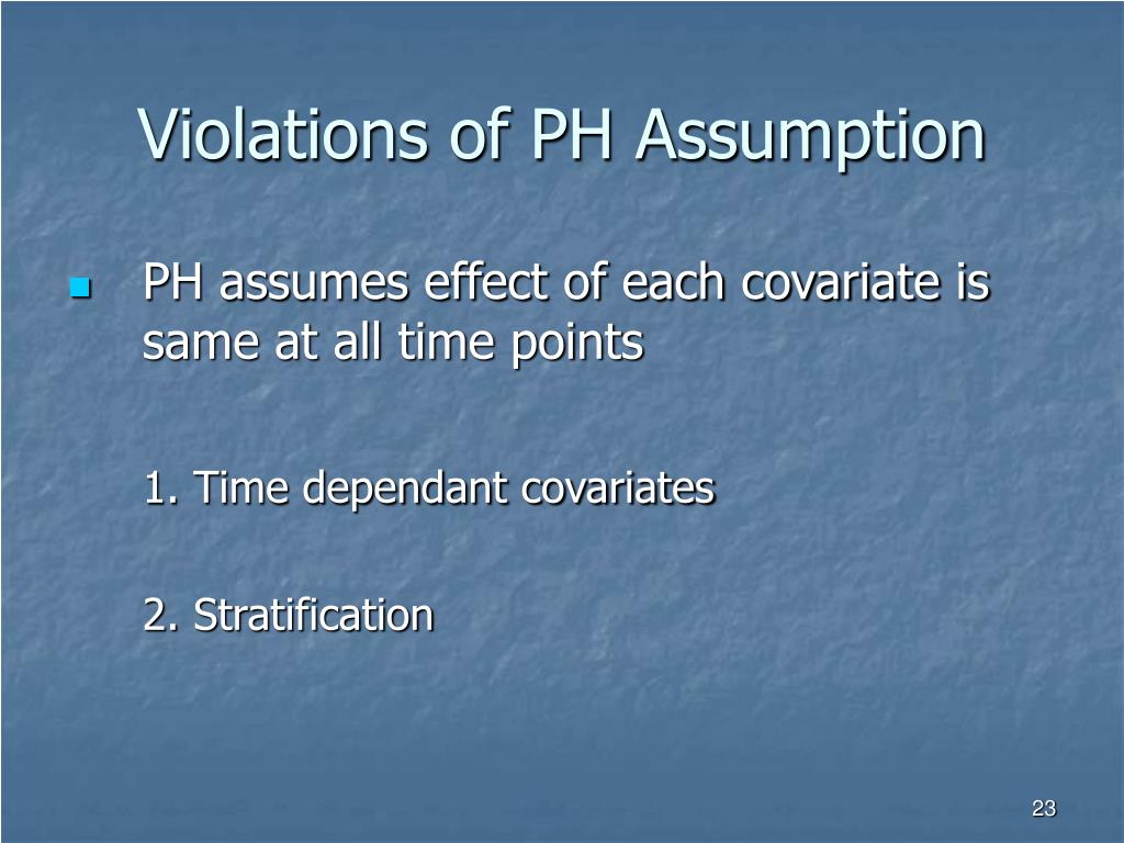 Violations of PH Assumption