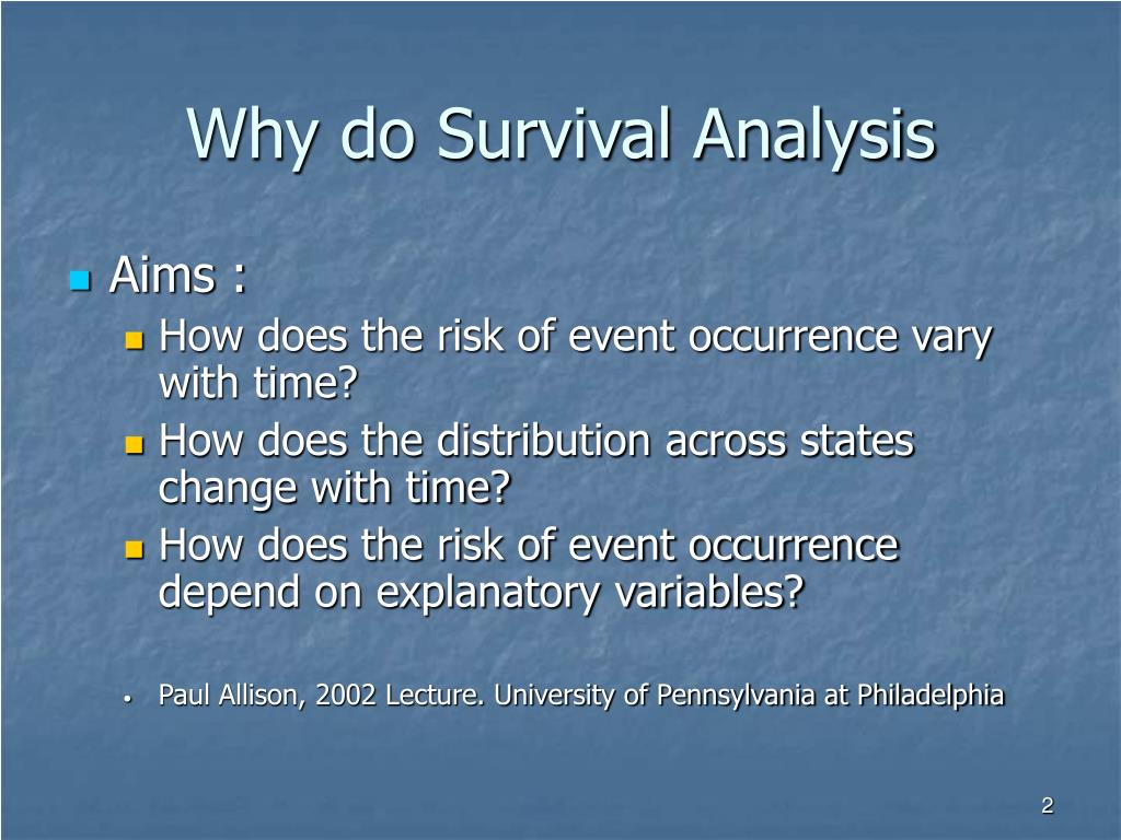 Why do Survival Analysis