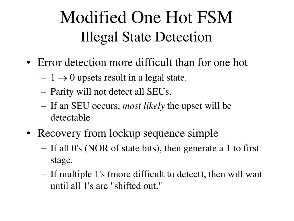 Modified One Hot FSM