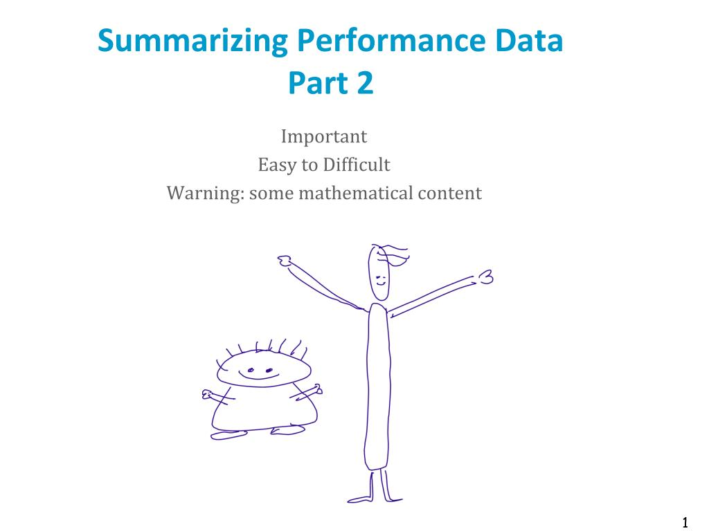 Summarizing Performance Data