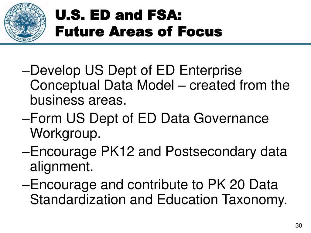 U.S. ED and FSA: