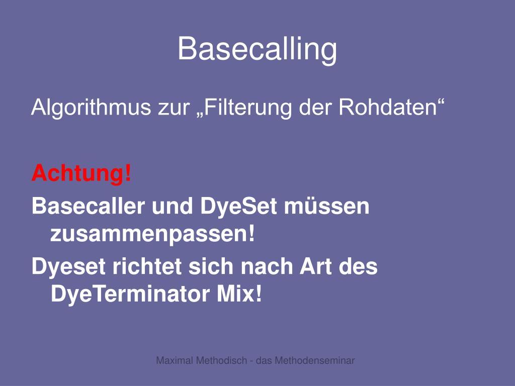 Basecalling