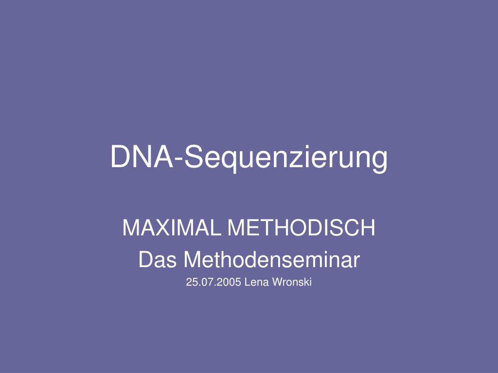 DNA-Sequenzierung