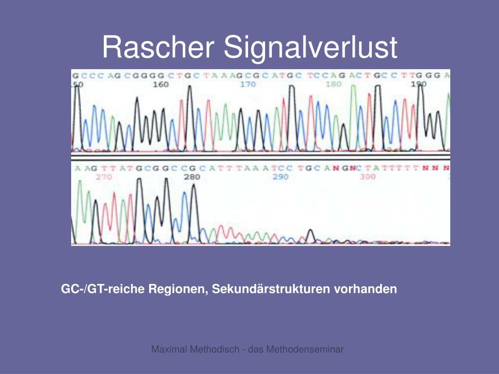 Rascher Signalverlust