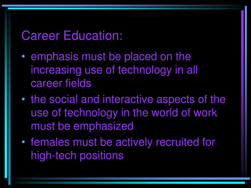 Career Education: