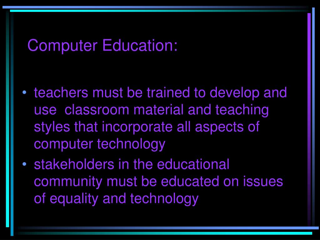 Computer Education: