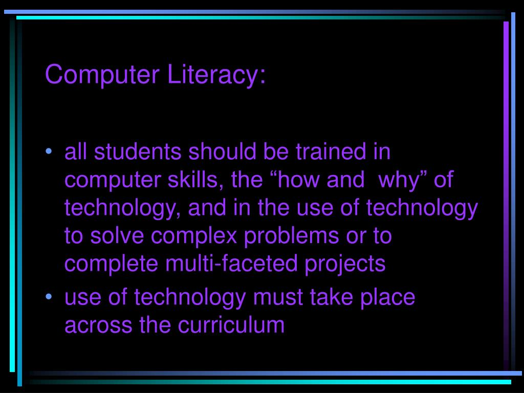 Computer Literacy: