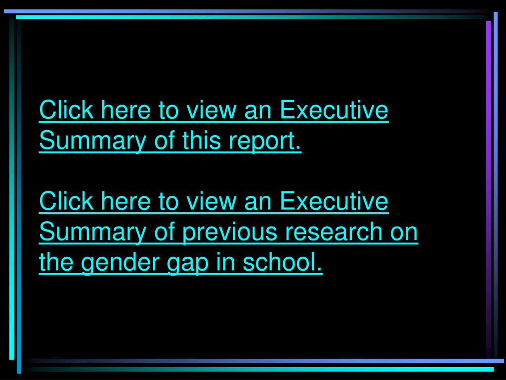 Click here to view an Executive Summary of this report.