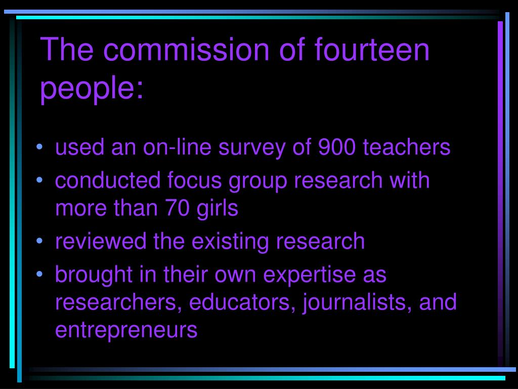 The commission of fourteen people: