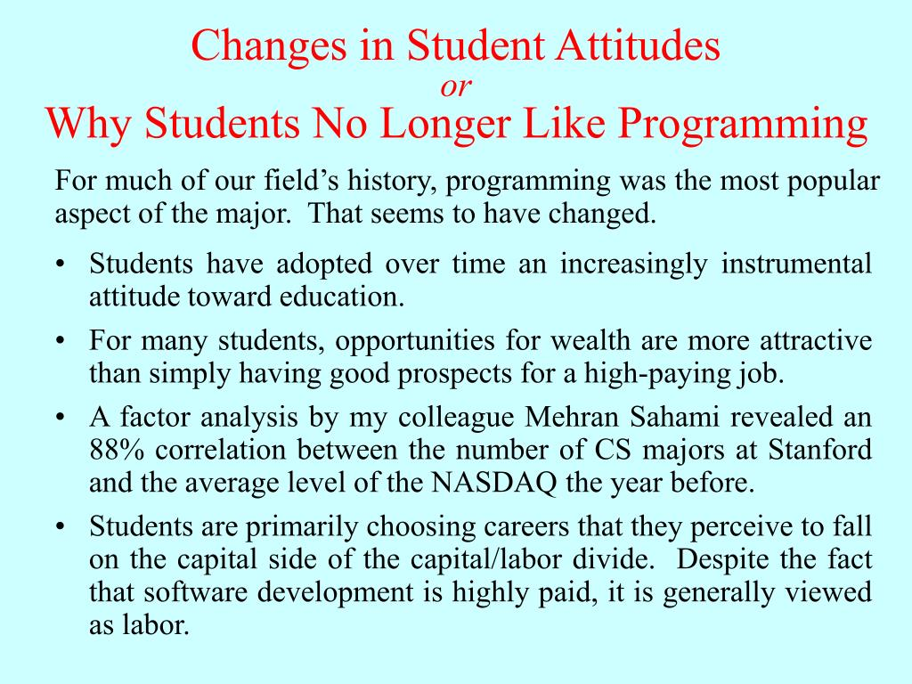 Changes in Student Attitudes