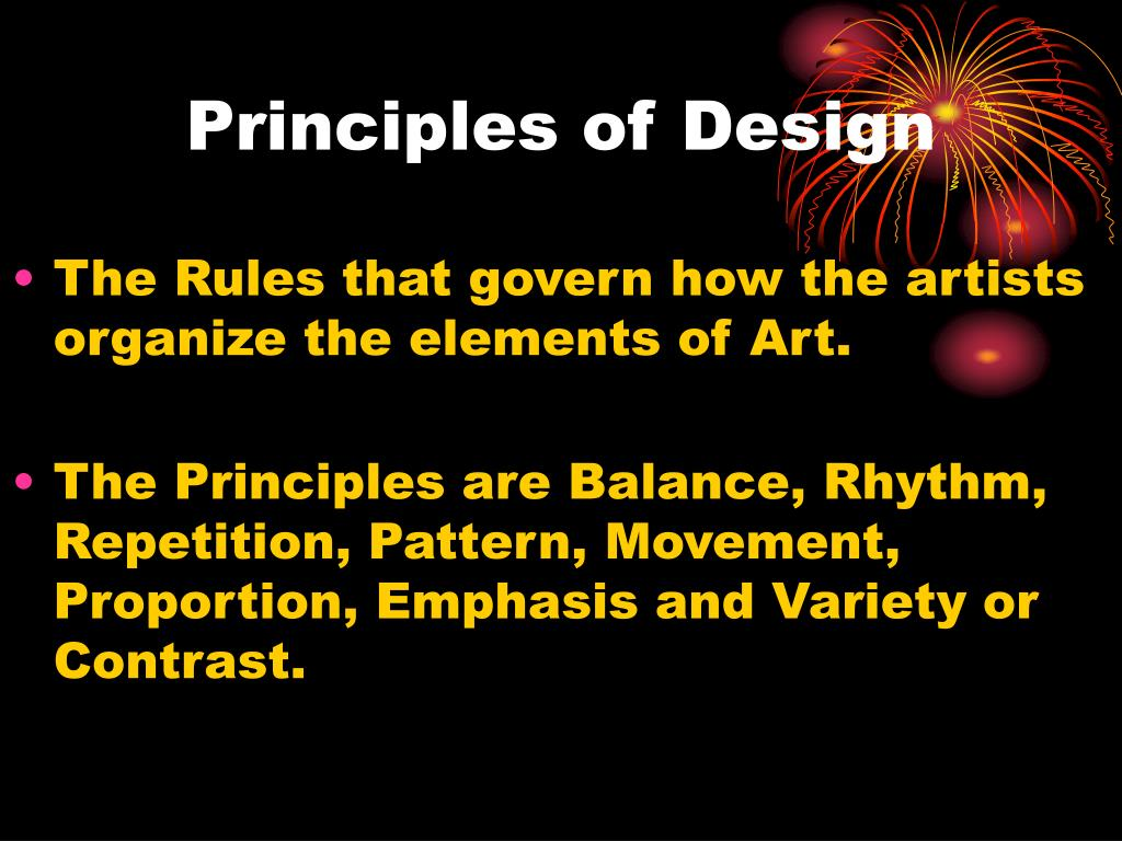 Ppt The Principles Of Design Powerpoint Presentation