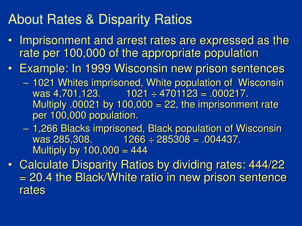 About Rates & Disparity Ratios