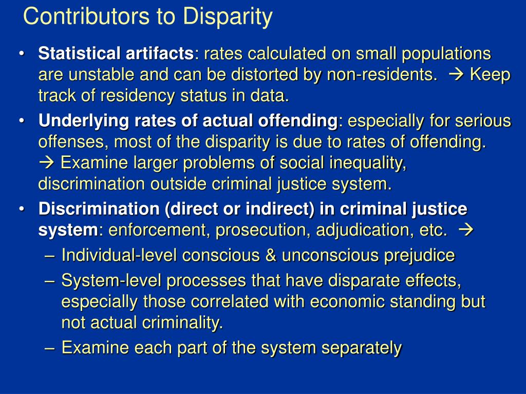 Contributors to Disparity