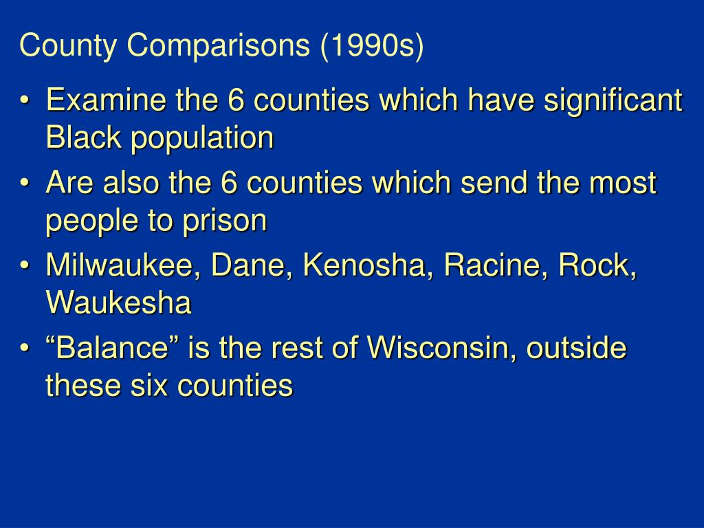 County Comparisons (1990s)