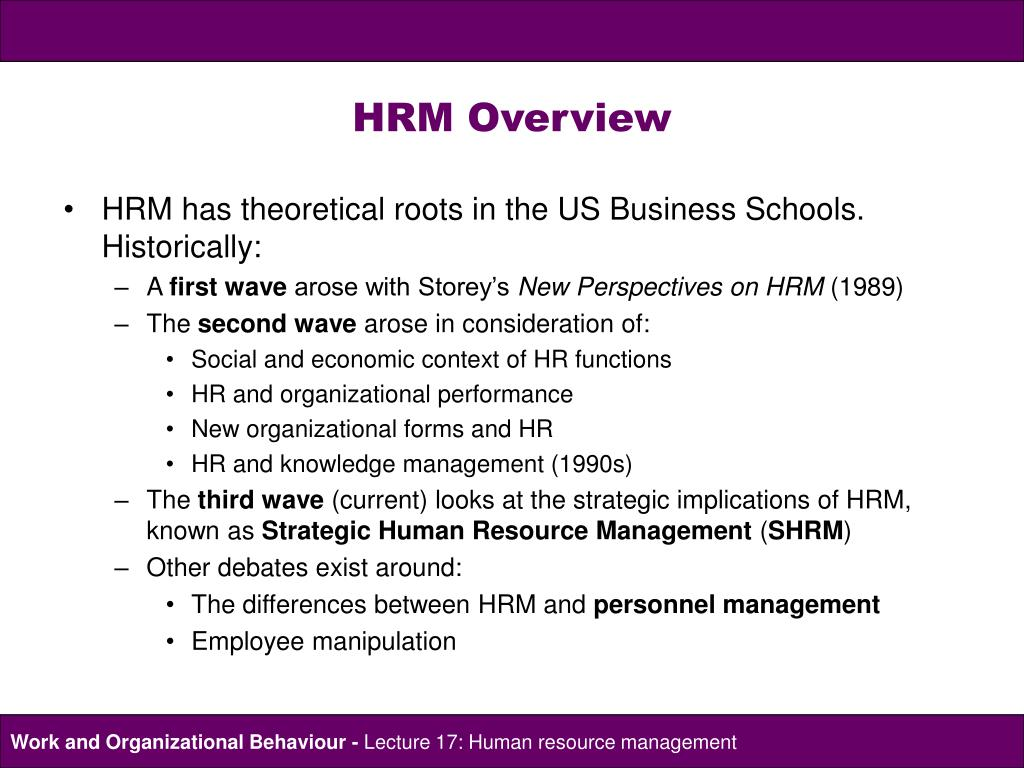 an overview of the functions of human resource management Executive summary human resources  • organizational and resource management  that reengineers human resources and aligns its functions with the district's.