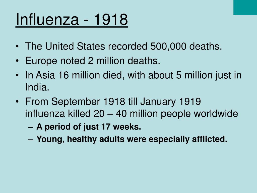 Influenza - 1918