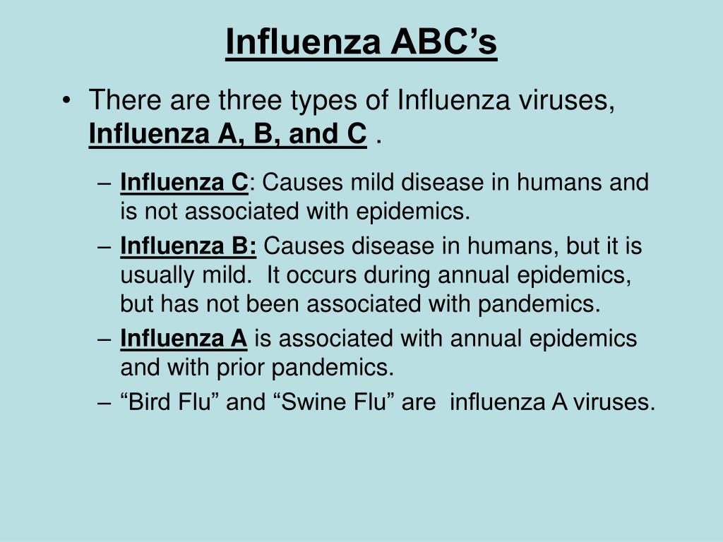 Influenza ABC's