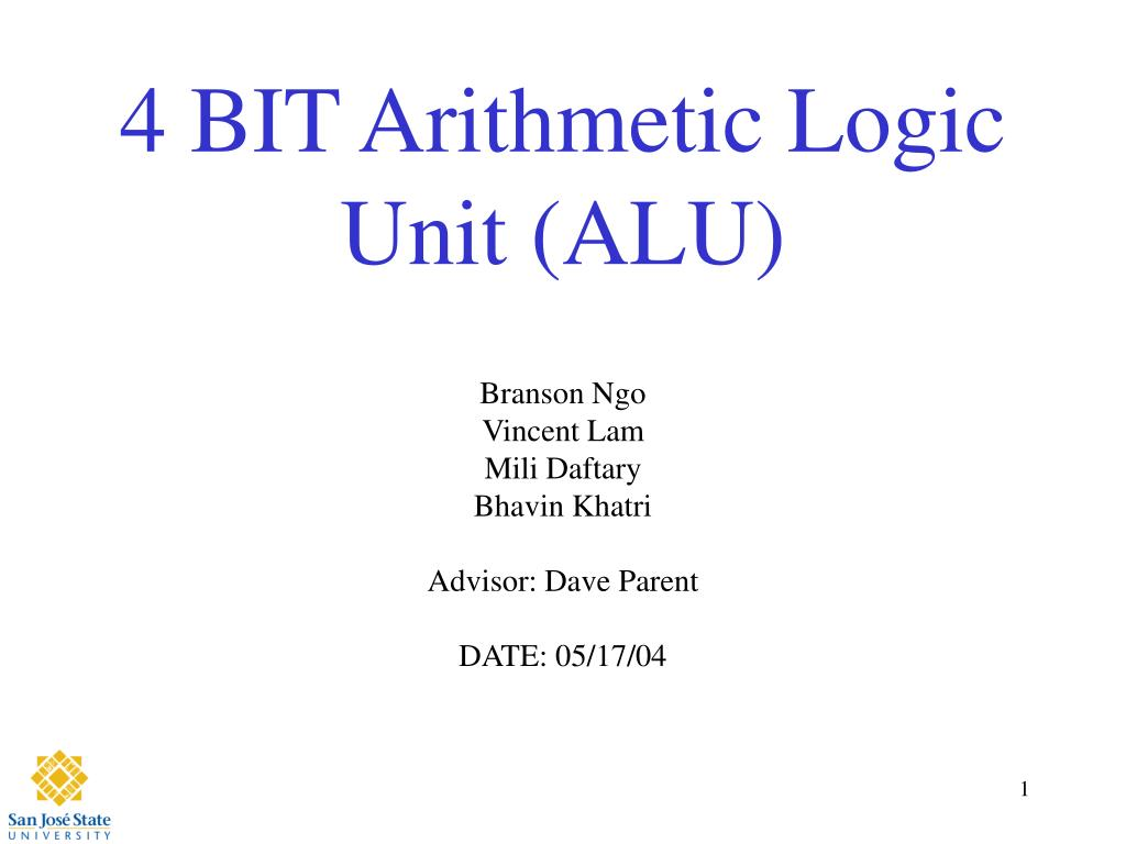 ppt 4 bit arithmetic logic unit alu powerpoint. Black Bedroom Furniture Sets. Home Design Ideas