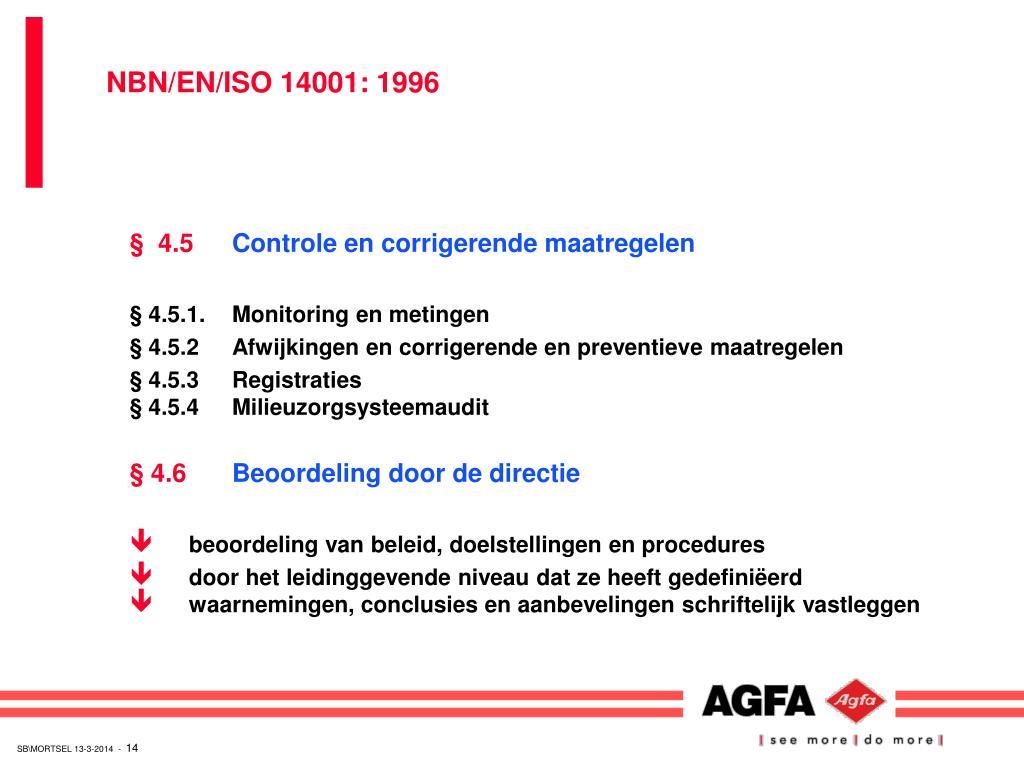 NBN/EN/ISO 14001: 1996