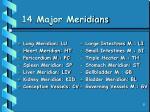 14 major meridians