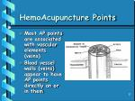 hemoacupuncture points