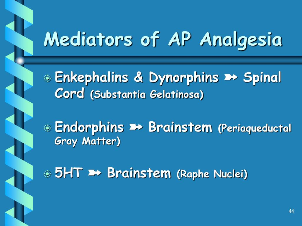 Mediators of AP Analgesia