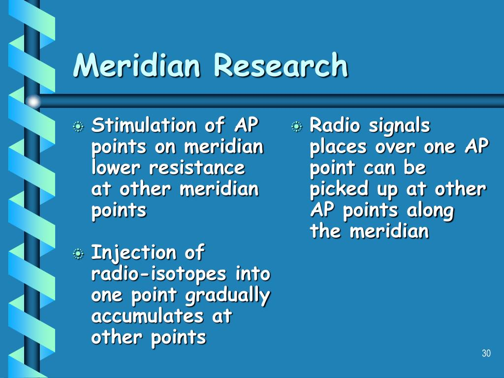 Stimulation of AP points on meridian lower resistance at other meridian points