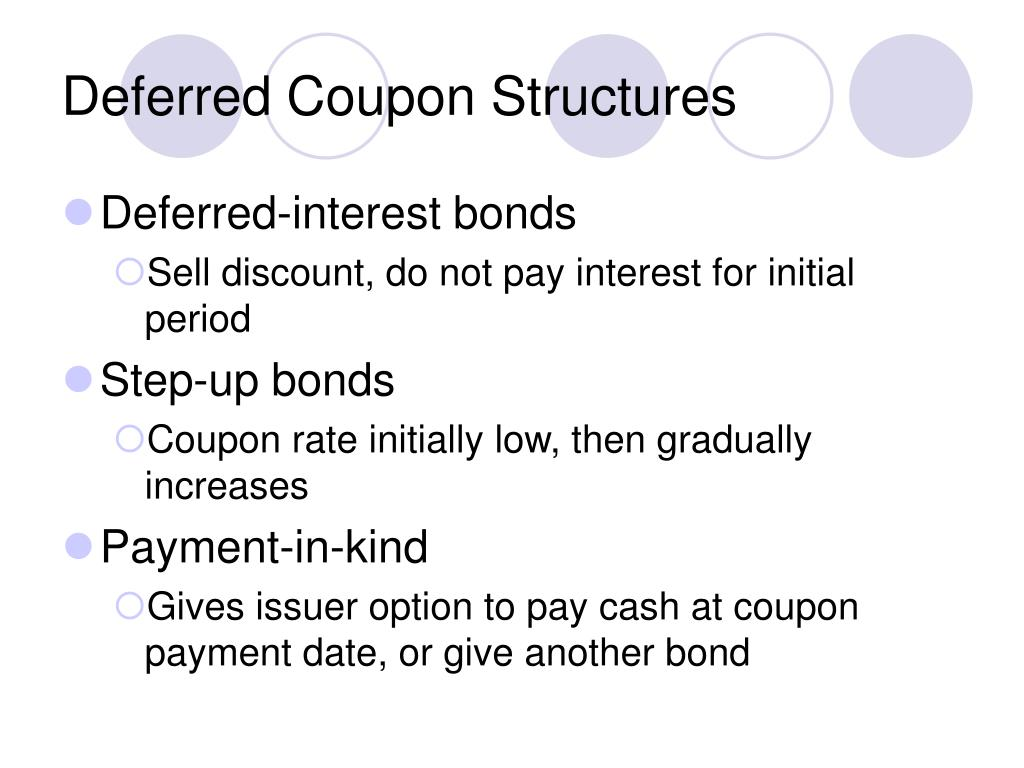 Deferred Coupon Structures