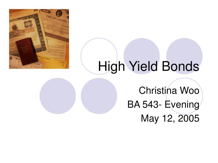 High yield bonds l.jpg