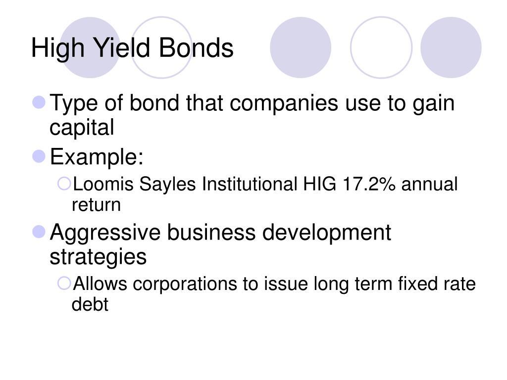 High Yield Bonds