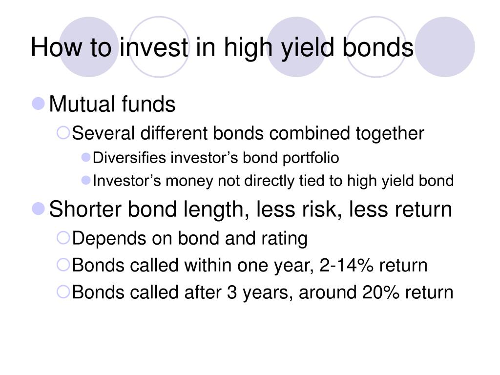 How to invest in high yield bonds