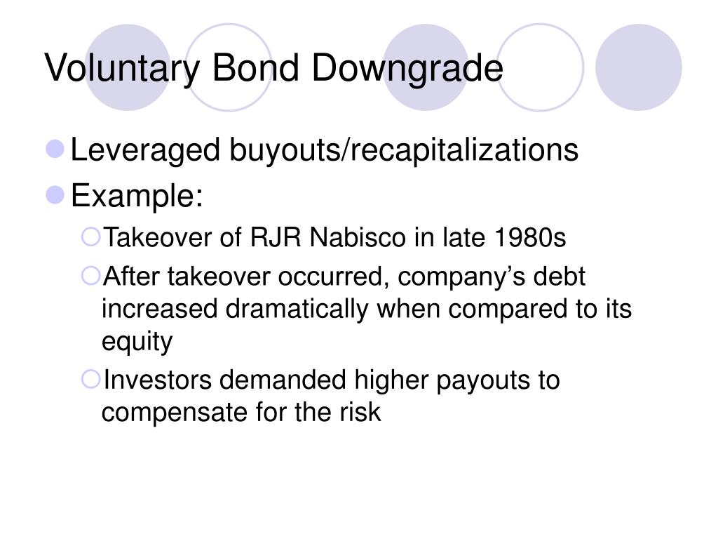 Voluntary Bond Downgrade