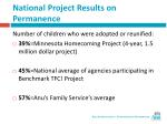 national project results on permanence