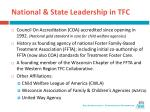 national state leadership in tfc