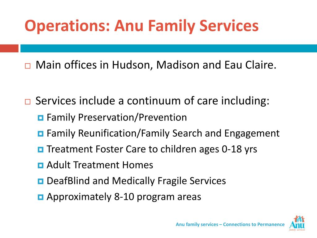 Operations: Anu Family Services