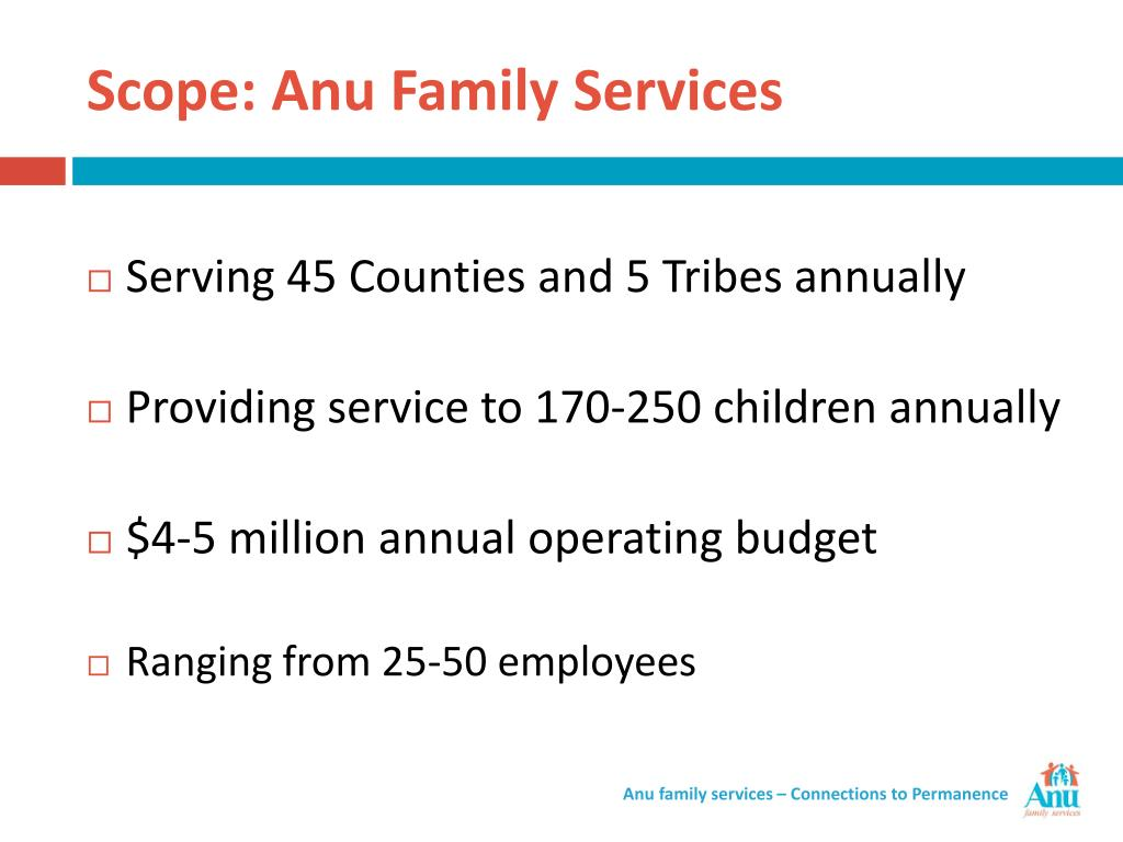 Scope: Anu Family Services